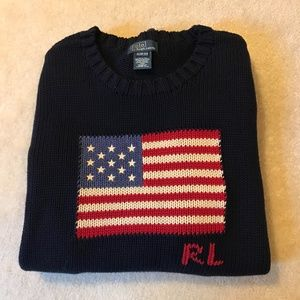 Ralph Lauren Boys American Flag Sweater